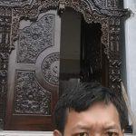 gebyok antik gapura jati 2 pilar