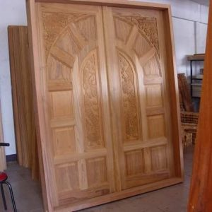Kusen/pintu utama kayu jati ukir