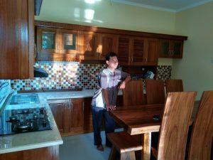 kitchen set solid kayu jati