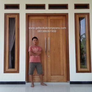 pintu minimalis kayu jati /RAHMAJATI MEBEL