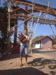 Proses pembangunan gapuro desa gemiring