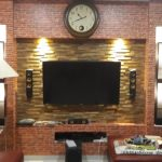 Jual panel dinding terbuat dari kayu jati