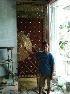 Pintu jati seni ukir timur tengah/pintu nabawi