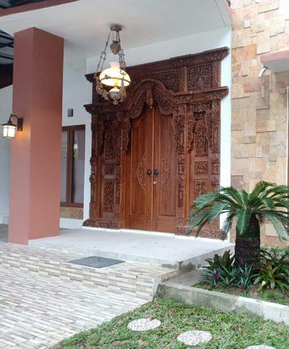 Rumah Minimalis Pintu Utama Gebyok Ukir Jepara Kreasi Furniture