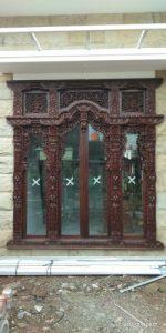 jendela gebyok 4 daun pintu kaca lebar 250×250 cm