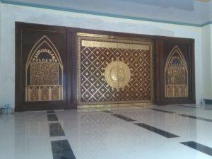Pintu Masjid Polda NTB